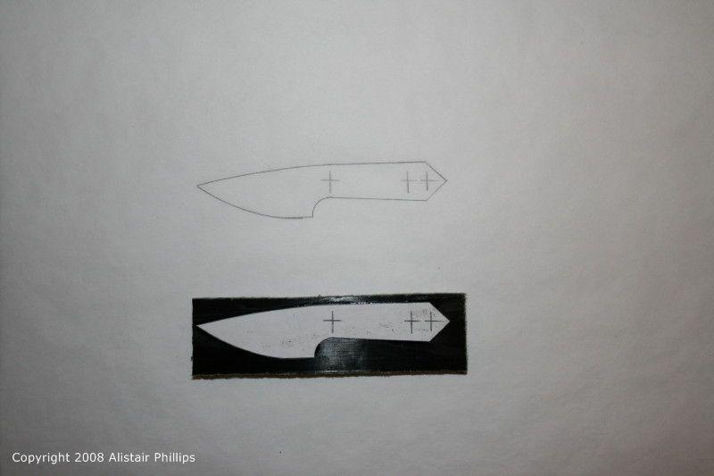 designing and making a neck knife alistair phillips knifemaker. Black Bedroom Furniture Sets. Home Design Ideas